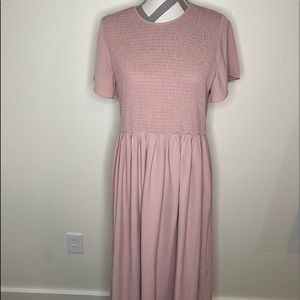 ROOLEE Blush Pink Flowy Sleeve Summer Dress